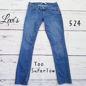 Levi's 524 Too Superlow Skinny Jeans Long Inseam